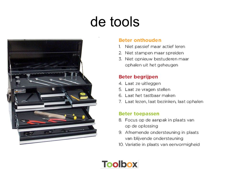 de tools