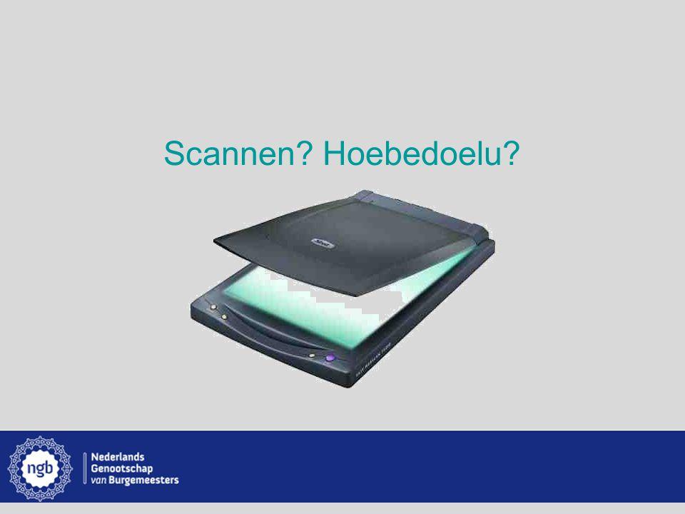 www.burgemeesters.nl Scannen Hoebedoelu