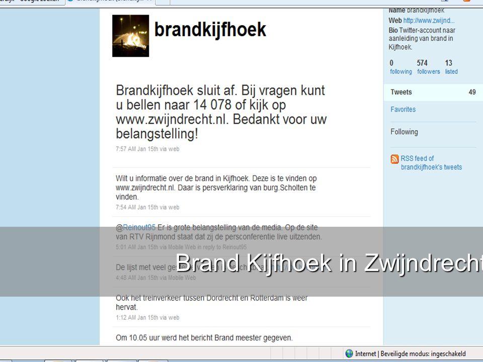 www.burgemeesters.nl Hoe bereik je mensen zonder Twitter tijdens crises? Twitter is niet zaligmakend, toch? Leren van Amber Alert Brand Kijfhoek in Zw
