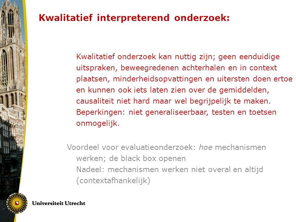 DUS: P.G.Swanborn (1999) Evalueren, Amsterdam: Boom.