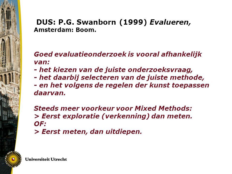 Principes Realistische Evaluatie: R.Pawson & N.