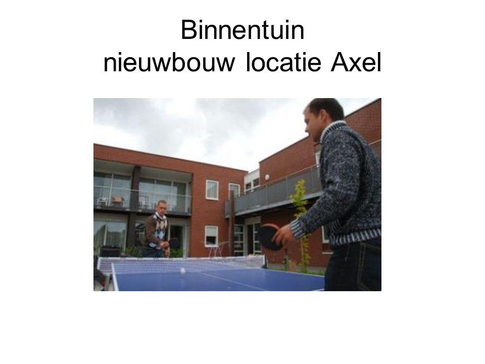 Binnentuin nieuwbouw locatie Axel