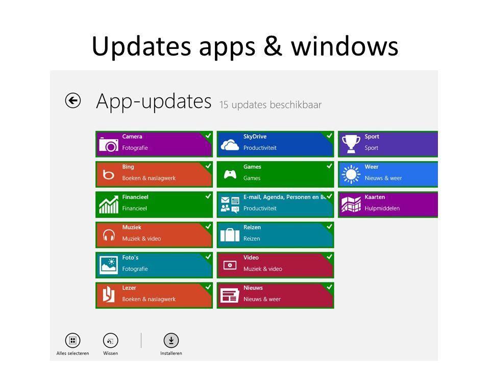 Updates apps & windows