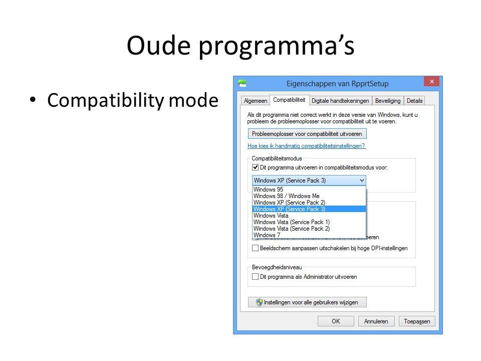 Oude programma's • Compatibility mode