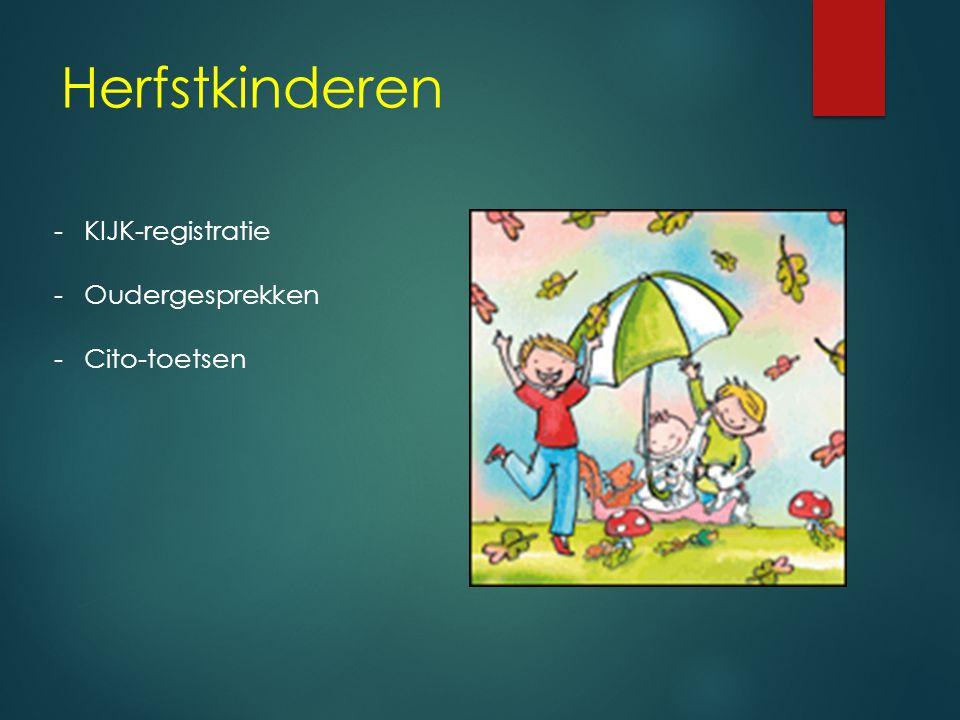 Herfstkinderen -KIJK-registratie -Oudergesprekken -Cito-toetsen