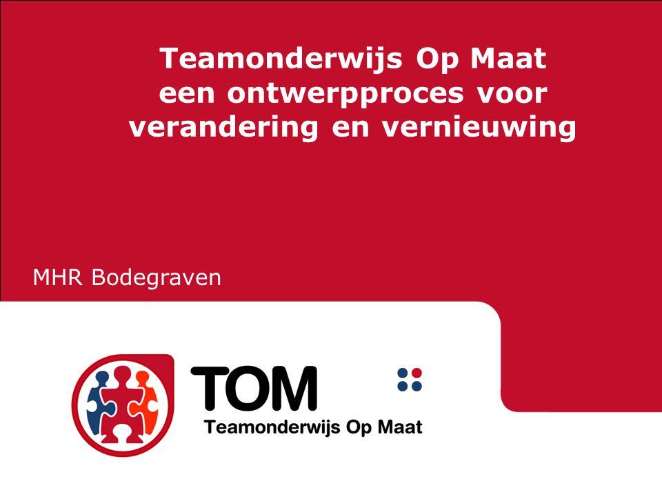 Teamonderwijs Op Maat een ontwerpproces voor verandering en vernieuwing MHR Bodegraven