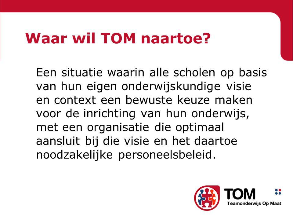 Waar wil TOM naartoe.