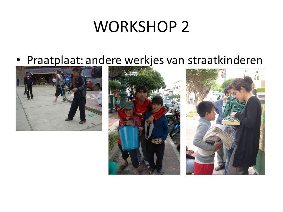 WORKSHOP 2 • Praatplaat: andere werkjes van straatkinderen
