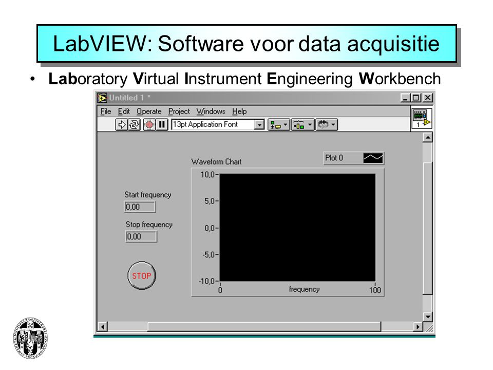 LabVIEW: Software voor data acquisitie •Laboratory Virtual Instrument Engineering Workbench