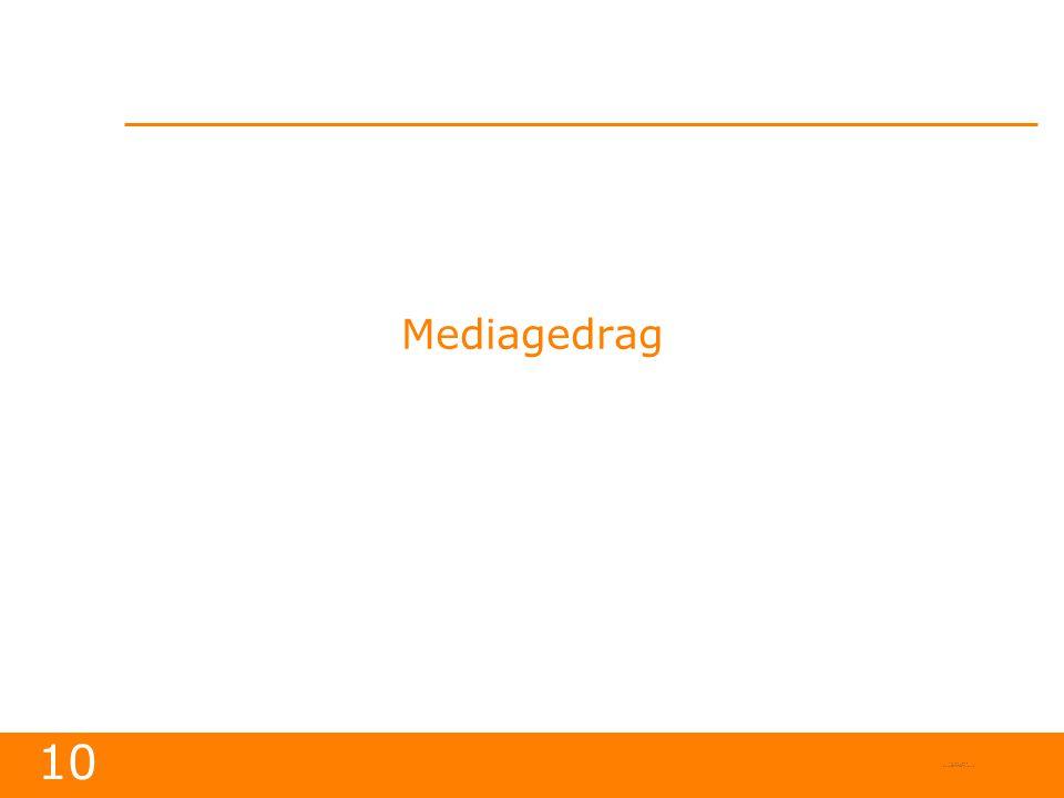10 Mediagedrag