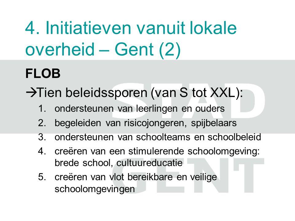 4.Initiatieven vanuit lokale overheid – Gent (3) 6.beleid voeren t.a.v.