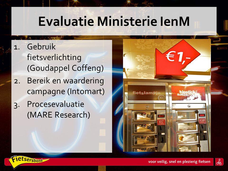 Evaluatie Ministerie IenM 1.Gebruik fietsverlichting (Goudappel Coffeng) 2.Bereik en waardering campagne (Intomart) 3.Procesevaluatie (MARE Research)