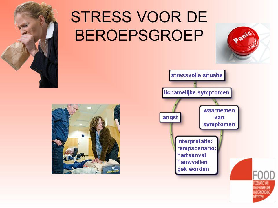 STRESS VOOR DE BEROEPSGROEP