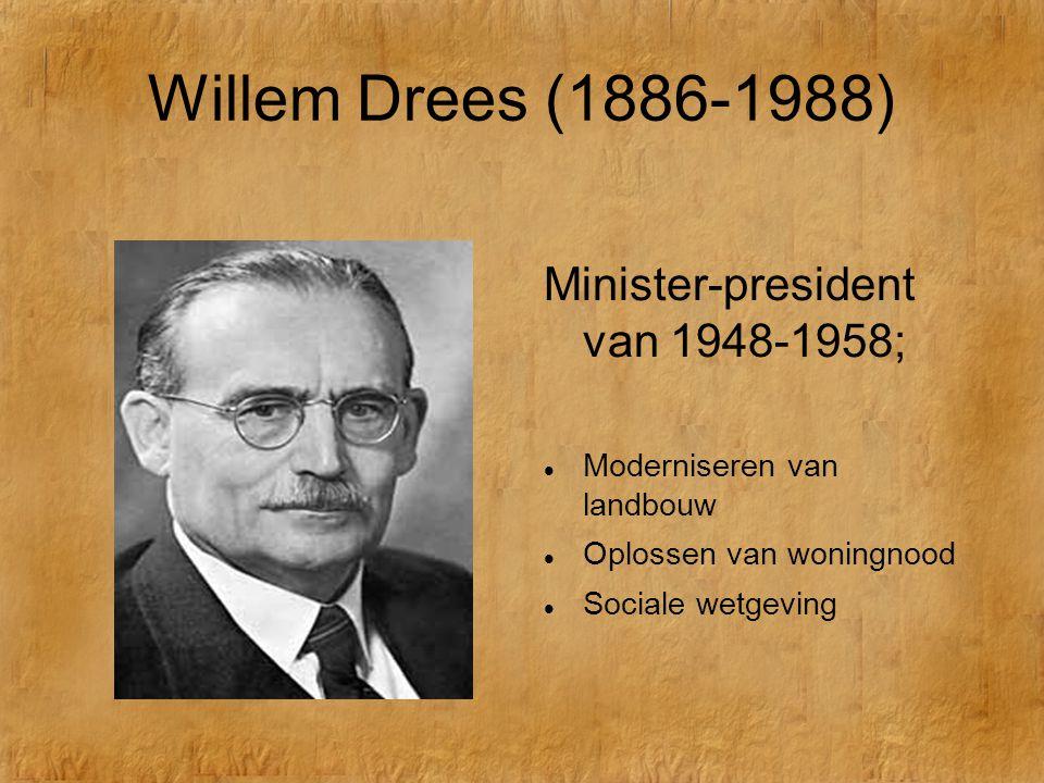 De Koude Oorlog Willem Drees (1886-1988) Minister-president van 1948-1958;  Moderniseren van landbouw  Oplossen van woningnood  Sociale wetgeving