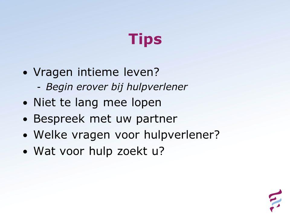 Tips • Vragen intieme leven.