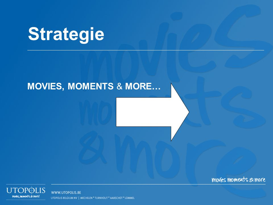 MOVIES, MOMENTS & MORE… Strategie
