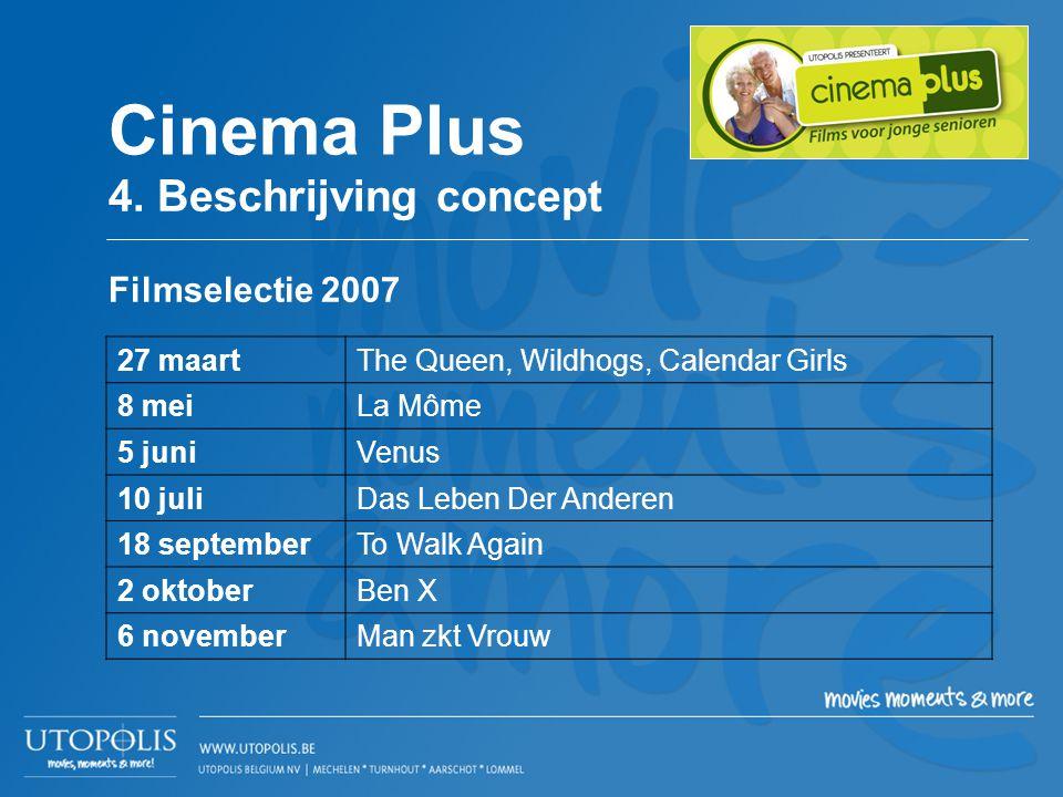 Filmselectie 2007 27 maartThe Queen, Wildhogs, Calendar Girls 8 meiLa Môme 5 juniVenus 10 juliDas Leben Der Anderen 18 septemberTo Walk Again 2 oktobe