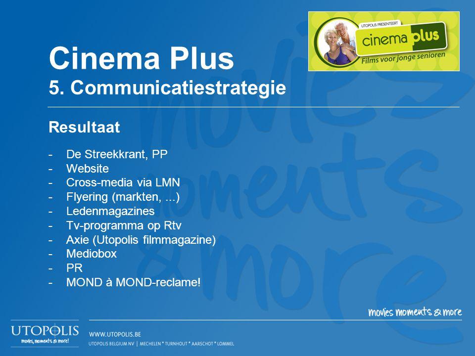 -De Streekkrant, PP -Website -Cross-media via LMN -Flyering (markten,...) -Ledenmagazines -Tv-programma op Rtv -Axie (Utopolis filmmagazine) -Mediobox
