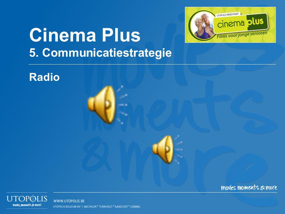 Radio Cinema Plus 5. Communicatiestrategie