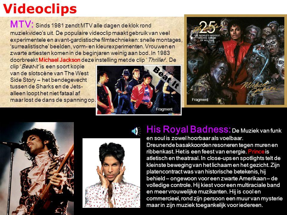 Videoclips MTV: Sinds 1981 zendt MTV alle dagen de klok rond muziekvideo's uit. De populaire videoclip maakt gebruik van veel experimentele en avant-g