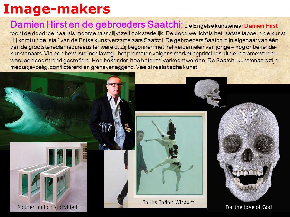 Image-makers Damien Hirst en de gebroeders Saatchi: De Engelse kunstenaar Damien Hirst toont de dood: de haai als moordenaar blijkt zelf ook sterfelij