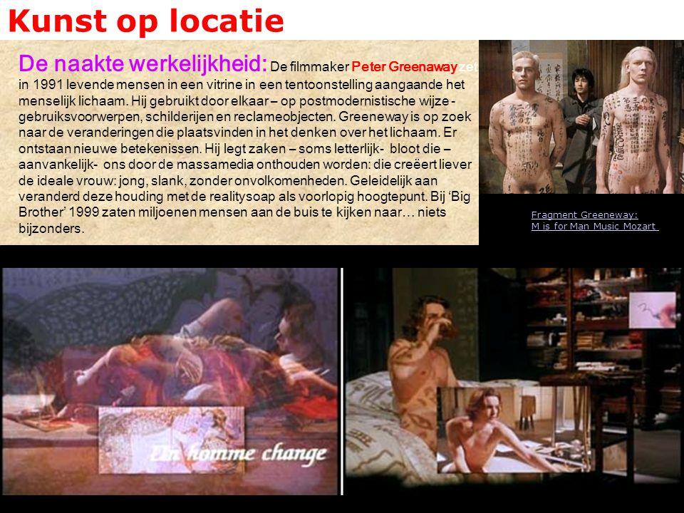 Kunst op locatie De naakte werkelijkheid: De filmmaker Peter Greenaway zet in 1991 levende mensen in een vitrine in een tentoonstelling aangaande het