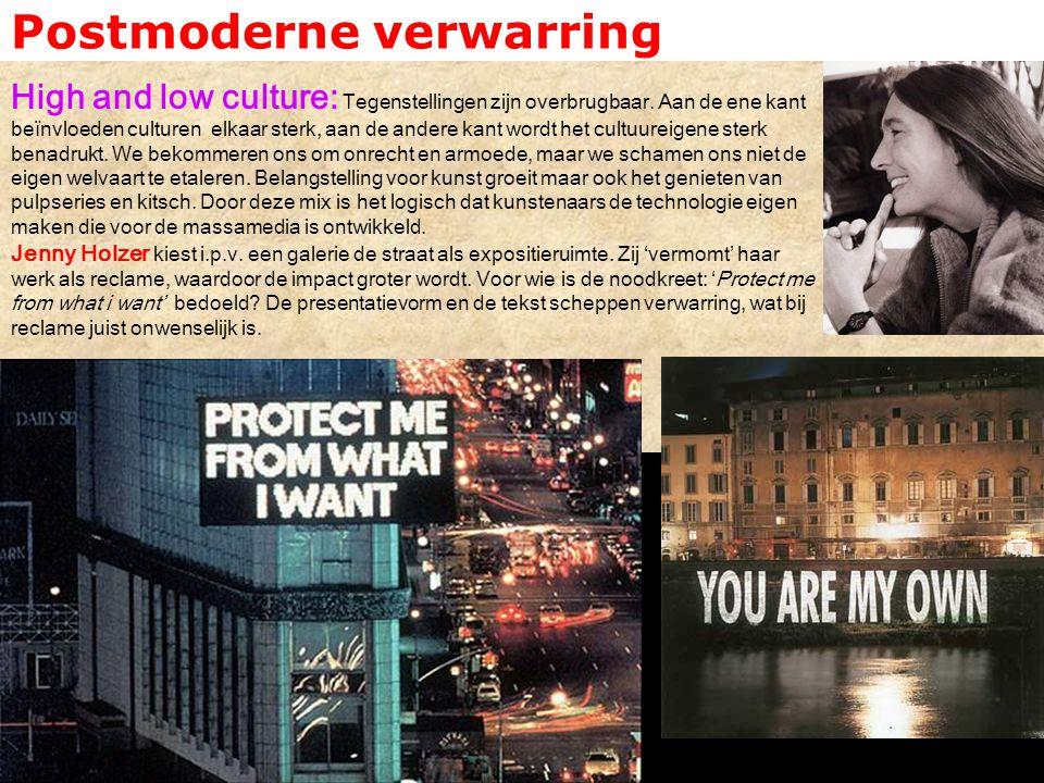 Postmoderne verwarring Subculturen: Postmodern: het tijdperk van het modernisme ligt achter ons.