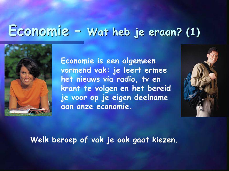 Economie – Hoeveel tijd kost het? HAVO: N-profiel (vrije keuzevak)  in HAVO 4 en 5: 4 lesuren per week HAVO E&M-profiel (verplicht)  in HAVO 4 en 5: