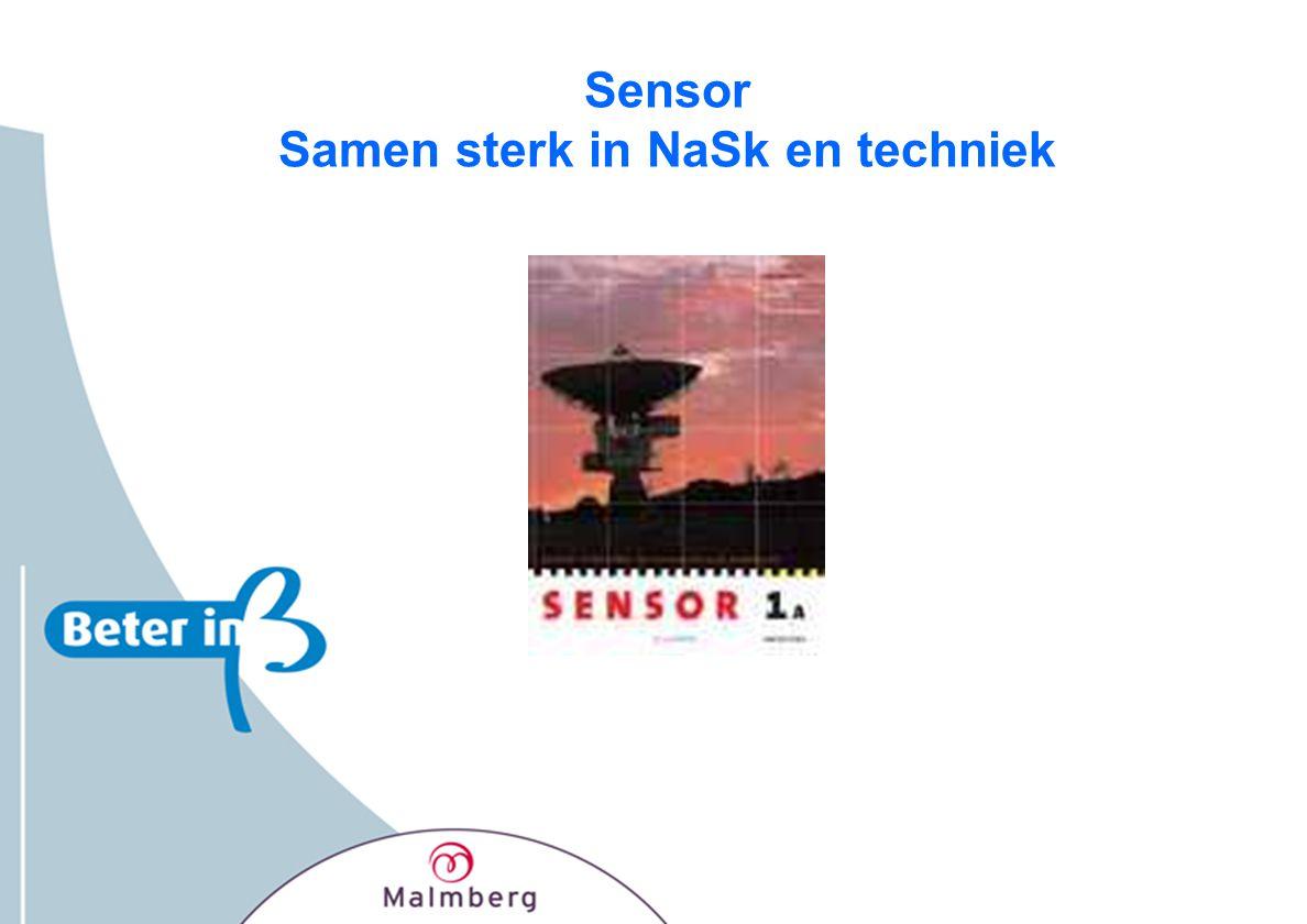 Basis van Sensor • Alles uit Nova, leerjaar 1 en 2 en soms 3 • Alles uit Kijk op Techniek •Waar nodig vanuit de contexten extra natuurkunde en scheikunde onderwerpen