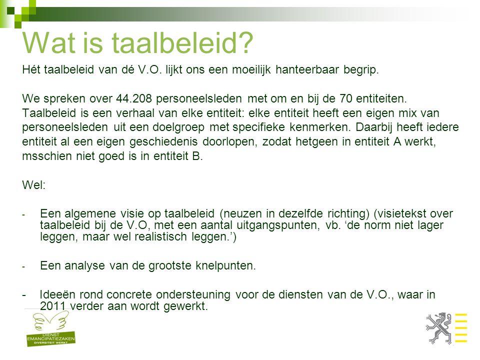 Doelgroep - Anderstalige allochtone werkzoekenden in het Vlaams Gewest die bij de V.O.