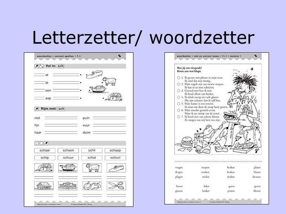 Na de verwerking •Leesboek •Woordendoos/ letterdoos •Ringboekjes •Klikklakboekjes •Vlot en veiligboekjes •De speelset •Letterzetter-woordzetter