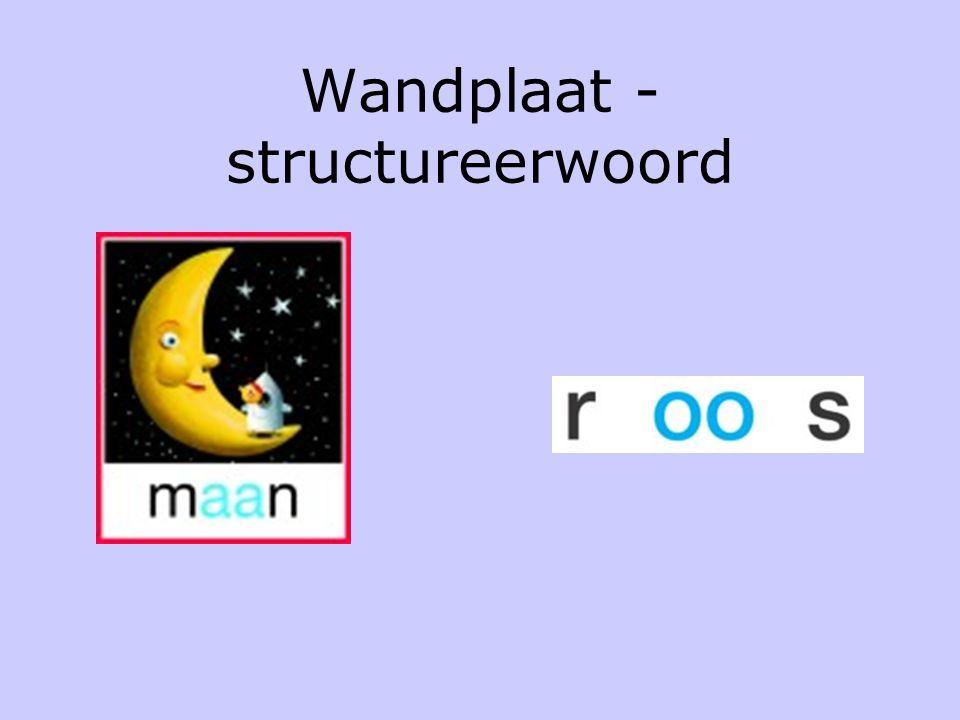 Wandplaat - structureerwoord