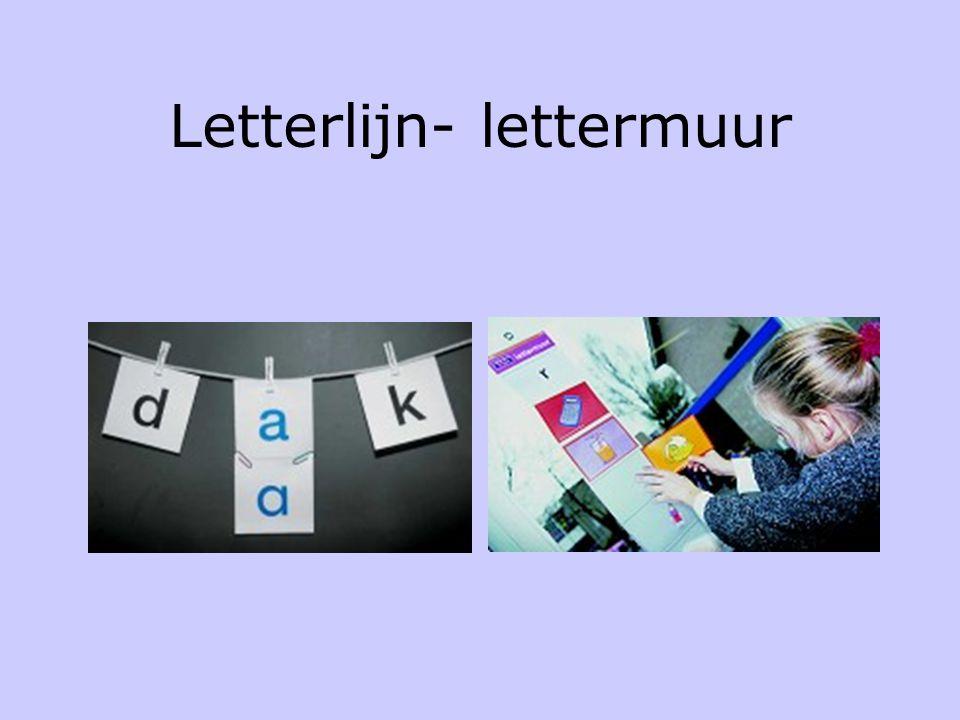 Letterlijn- lettermuur