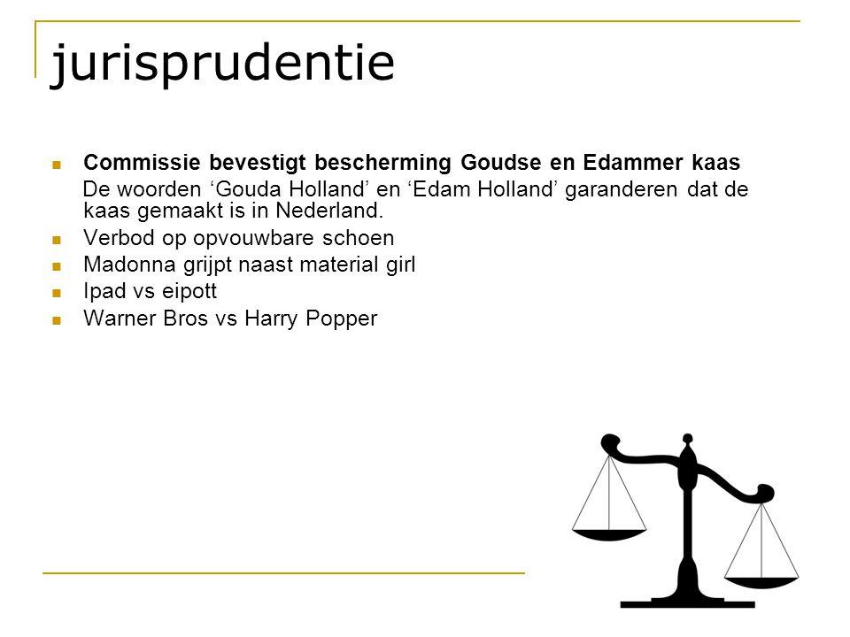 jurisprudentie  Commissie bevestigt bescherming Goudse en Edammer kaas De woorden 'Gouda Holland' en 'Edam Holland' garanderen dat de kaas gemaakt is