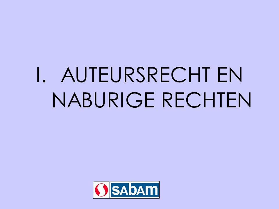 I.AUTEURSRECHT EN NABURIGE RECHTEN
