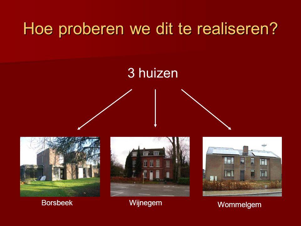 Hoe proberen we dit te realiseren 3 huizen BorsbeekWijnegem Wommelgem