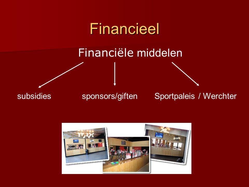 Financieel Financiële middelen subsidiessponsors/giftenSportpaleis / Werchter