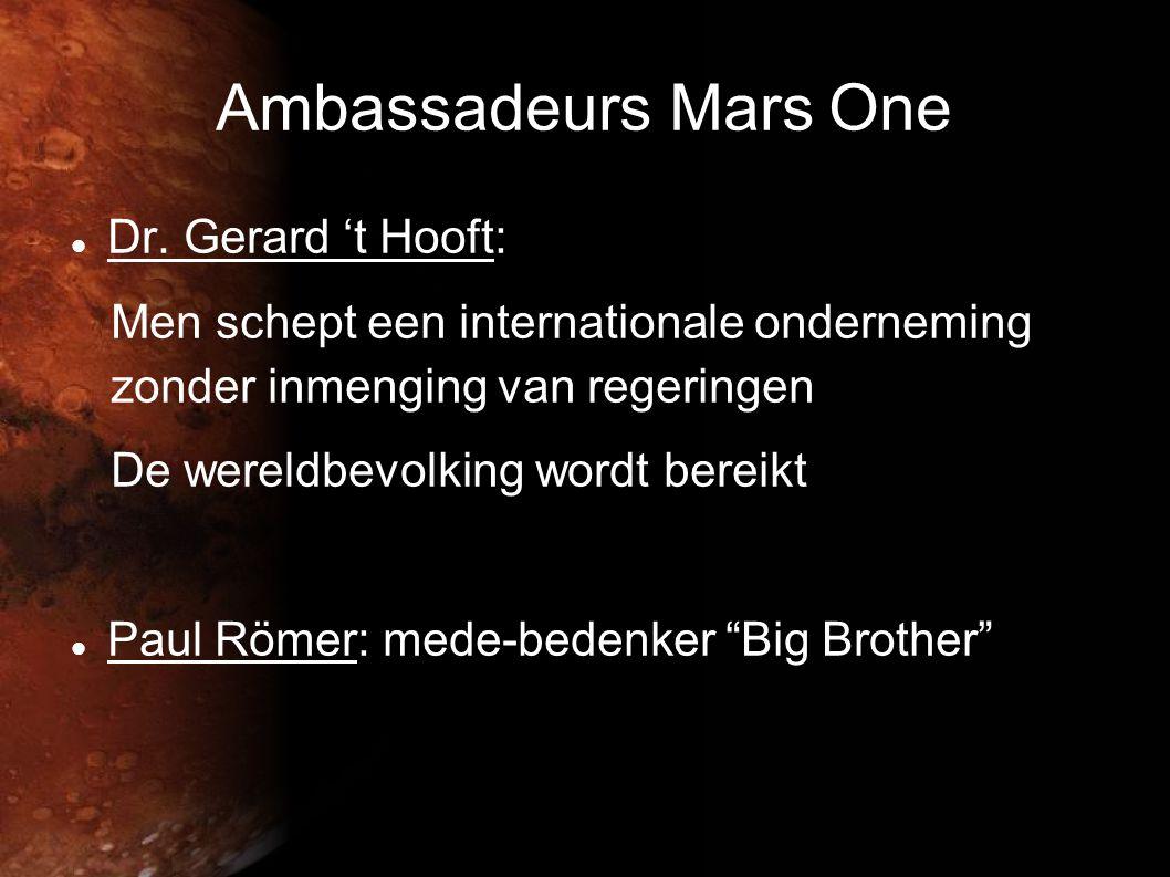 Ambassadeurs Mars One  Dr.