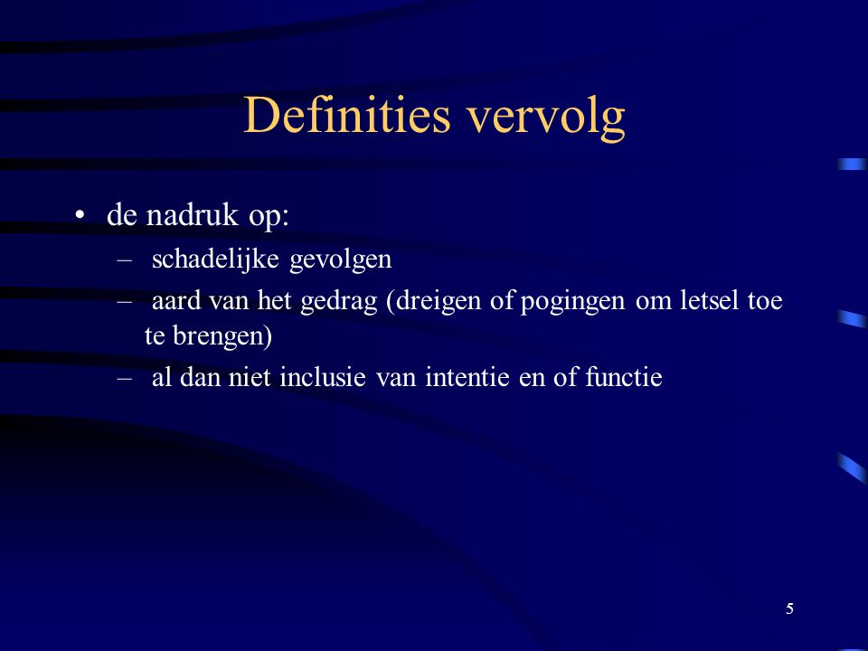 6 Definities (vervolg) –bv.