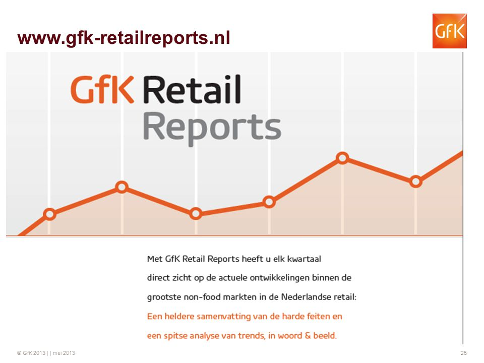 © GfK 2013 | | mei 2013 25 www.gfk-retailreports.nl