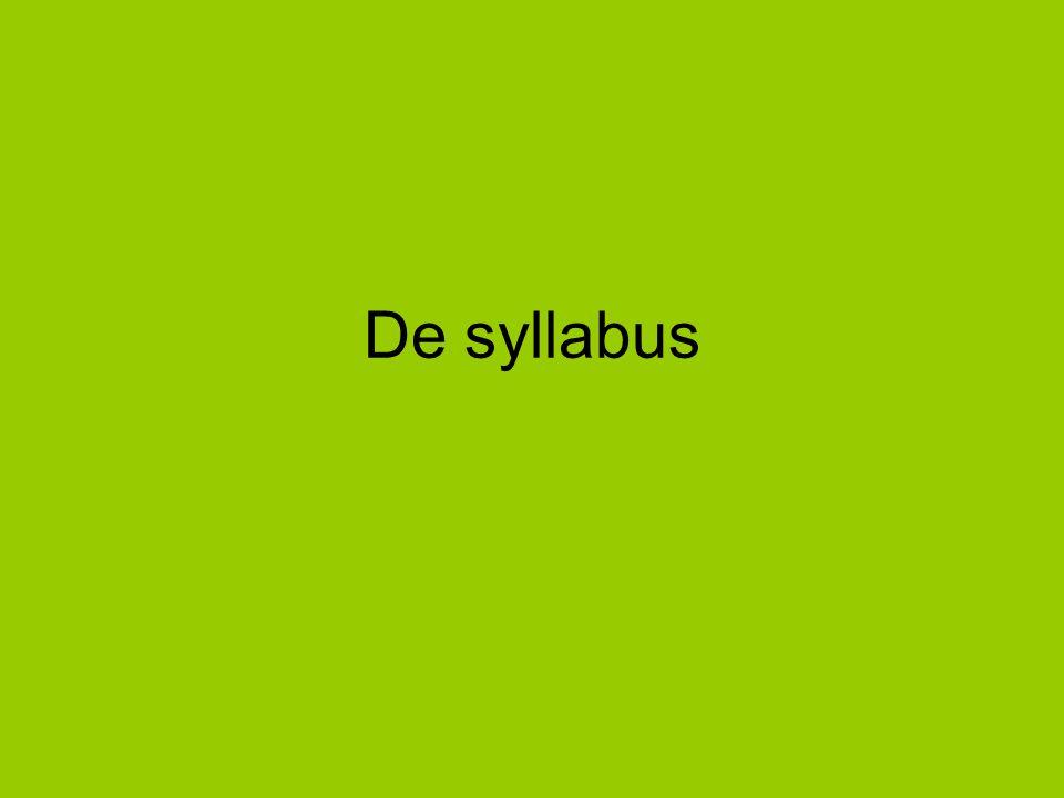 De syllabus