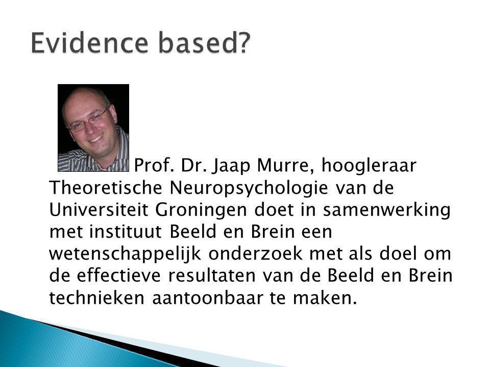 Prof. Dr. Jaap Murre, hoogleraar Theoretische Neuropsychologie van de Universiteit Groningen doet in samenwerking met instituut Beeld en Brein een wet
