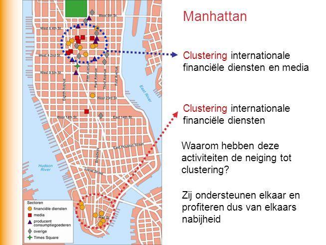Clustering internationale financiële diensten Clustering internationale financiële diensten en media Waarom hebben deze activiteiten de neiging tot cl