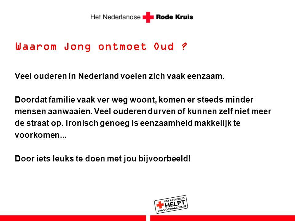 Waarom Jong ontmoet Oud ? Veel ouderen in Nederland voelen zich vaak eenzaam. Doordat familie vaak ver weg woont, komen er steeds minder mensen aanwaa