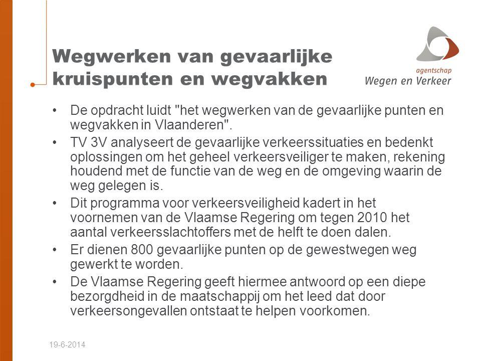19-6-2014 Inhoud van het project •N2 Brussel - Leuven •(her)aanleg wegdek in asfaltverharding •Volledige vernieuwing fietspaden •Aanpassing riolering •Herinrichting bestaande kruispunten •Termereboslaan / Termerestraat •Nieuwe steenweg