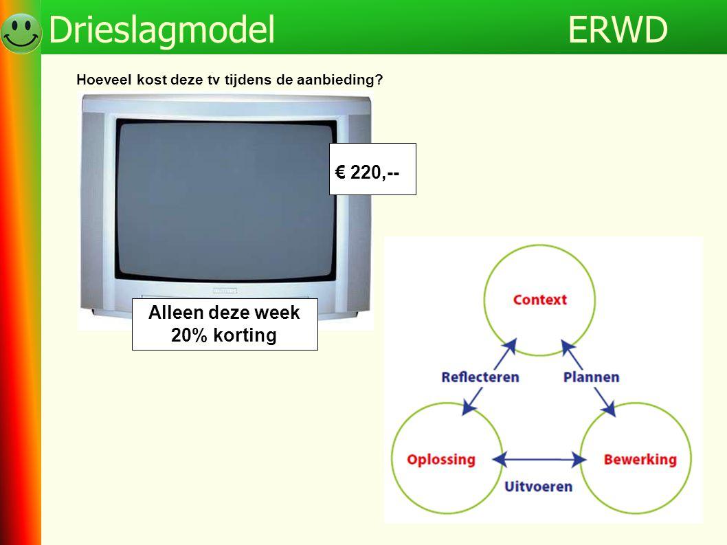 Alleen deze week 20% korting € 220,-- Hoeveel kost deze tv tijdens de aanbieding? ERWDDrieslagmodel