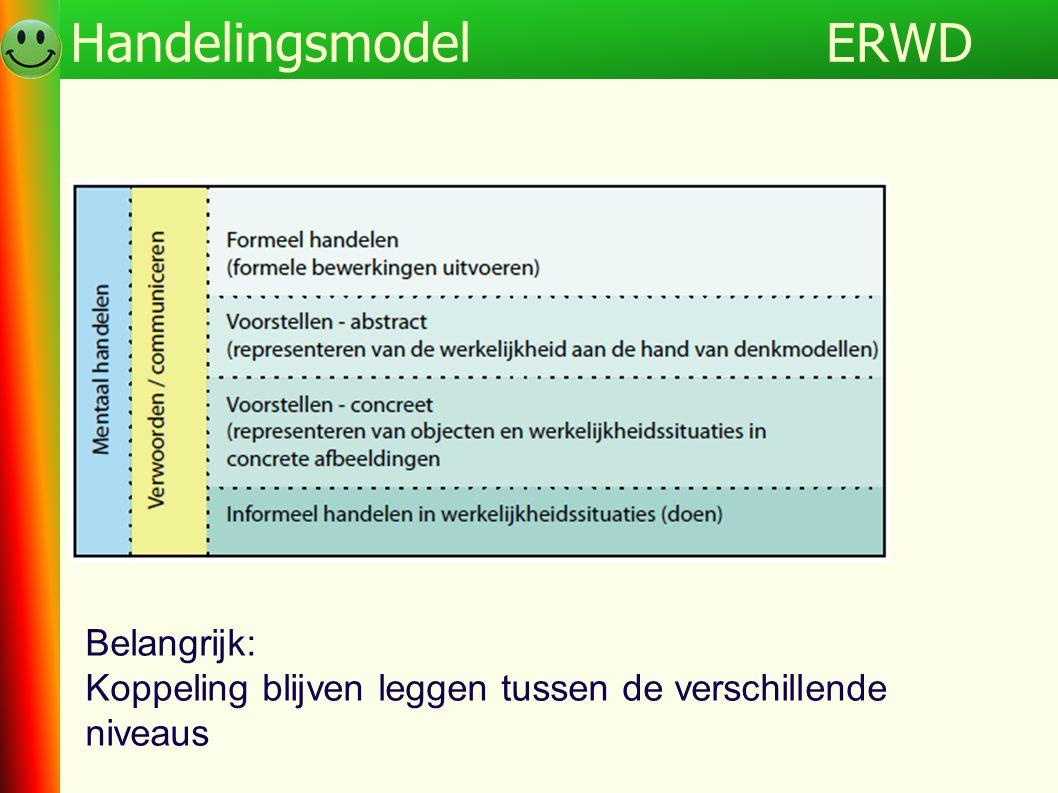 ERWDHandelingsmodel Belangrijk: Koppeling blijven leggen tussen de verschillende niveaus