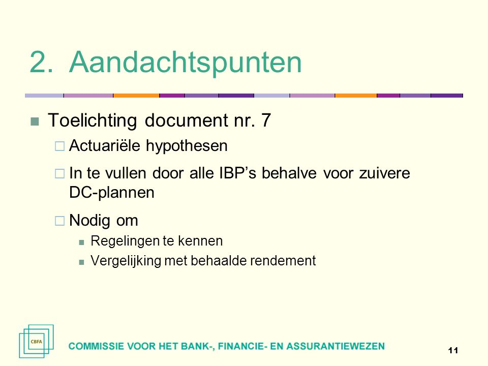 2.Aandachtspunten  Toelichting document nr.