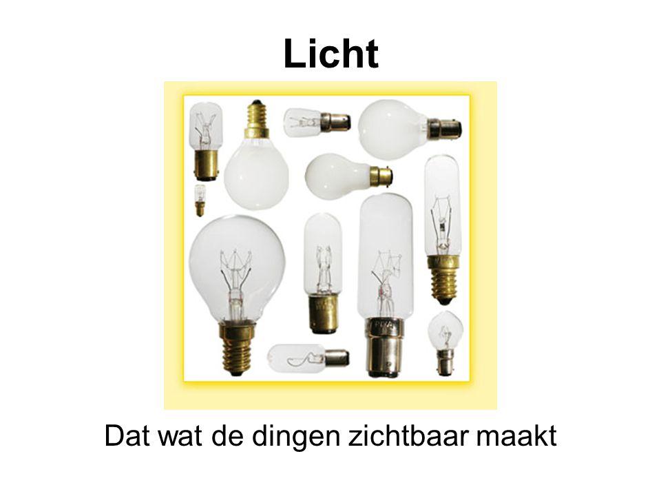 Licht Dat wat de dingen zichtbaar maakt