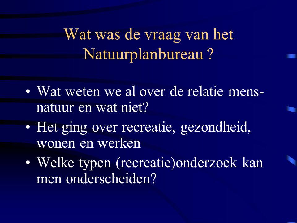 Wat was de vraag van het Natuurplanbureau .